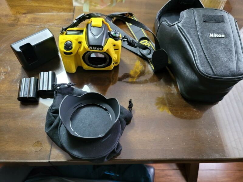 Nikon D750 24.3 MP Full Frame (FX) Camera BODY, OEM CASE AND SILICONE COVER USED