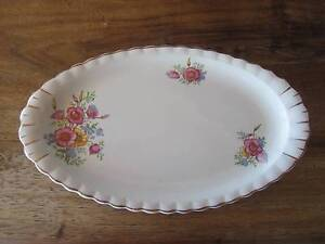 Oval Flora China Sandwich Platter, J & G MEAKIN England EUC Cleveland Redland Area Preview