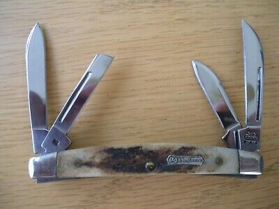 BEAUTIFUL CASE XX # 5468 SS JOHN DEERE STAG SMALL CONGRESS KNIFE NEVER USED