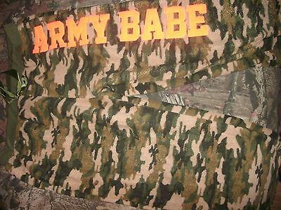 fleece PAJAMA pj PANTS new CAMO ARMY BABE size 2X (B221) - Army Babe