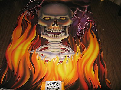 DEATH FIRE SKELETON POSTER PC1044 1991 22 X 34  - $3.99