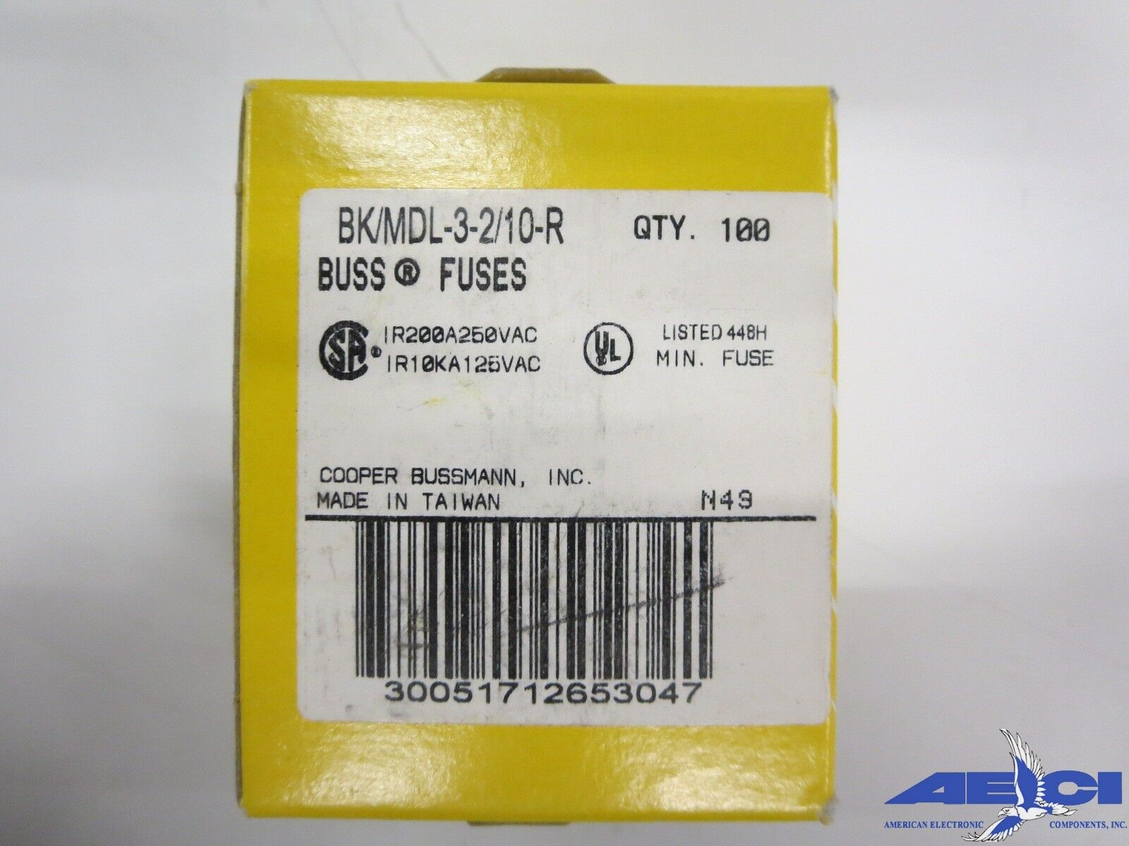 Cooper Bussmann Bk Mdl 3 2 10 R Fuse Box Of 100 10000 Picclick Buss 4 See More