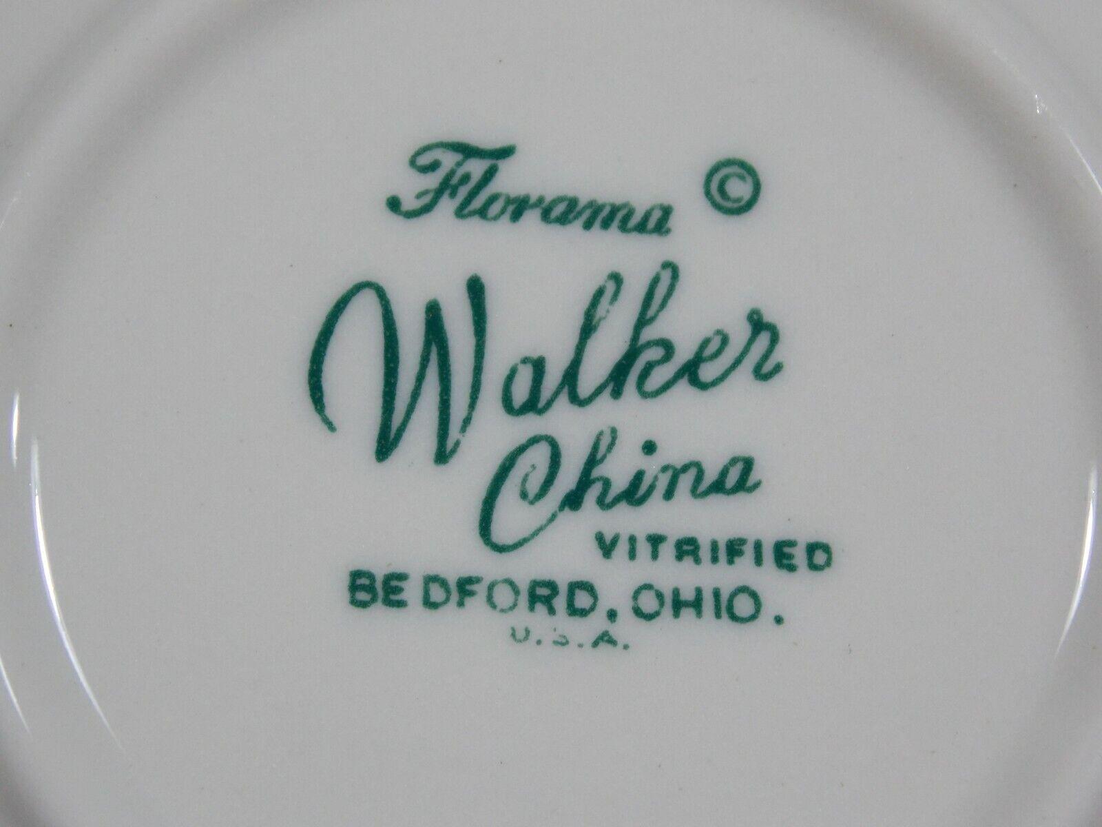 5 Vintage Walker China 4 1/4 Plate Restaurant Ware Vitrified Florama Carnival - $12.00