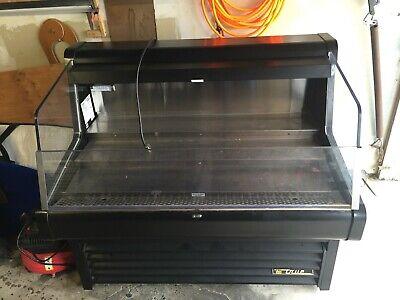 True Thac-48 48 Black Grab N Go Refrigerated Horizontal Air Curtain Merchandis