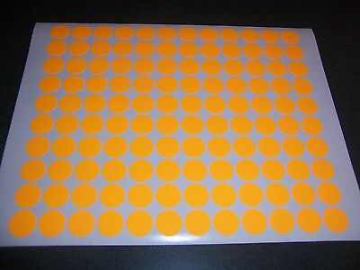 480 Neon Orange Blank Garage Yard Sale Stickers Labels Price Tags Adhesive Tabs