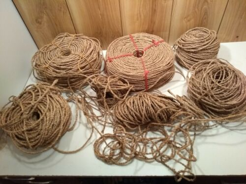 twisted seagrass rope coils LOT of 8.7 pounds from a basketmaker