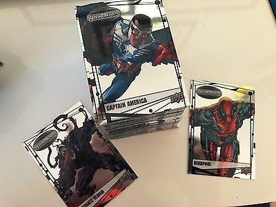 Marvel Vibranium 2015 Upper Deck 90 Card Complete Base Set DEADPOOL X-MEN MORE!