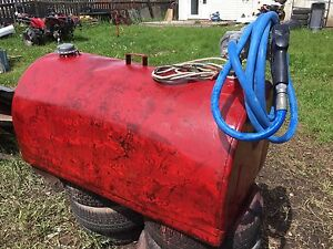 100 gallon tidy tank with electric pump.