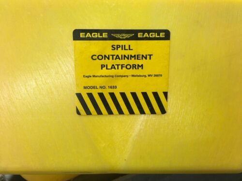 BRAND NEW! Eagle (1) Drum Spill Containment Platform MN: 1633