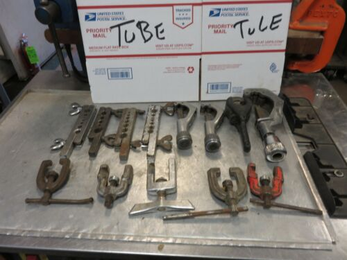 Tube cutter and Flairing tool LOT Ridigd Imperial Tubing cutters, flairing tools