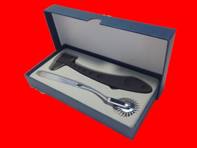 Medical Ergonomic Diagnostic Taylor Reflex & Wartenberg Pin Wheel Hammer Box Set
