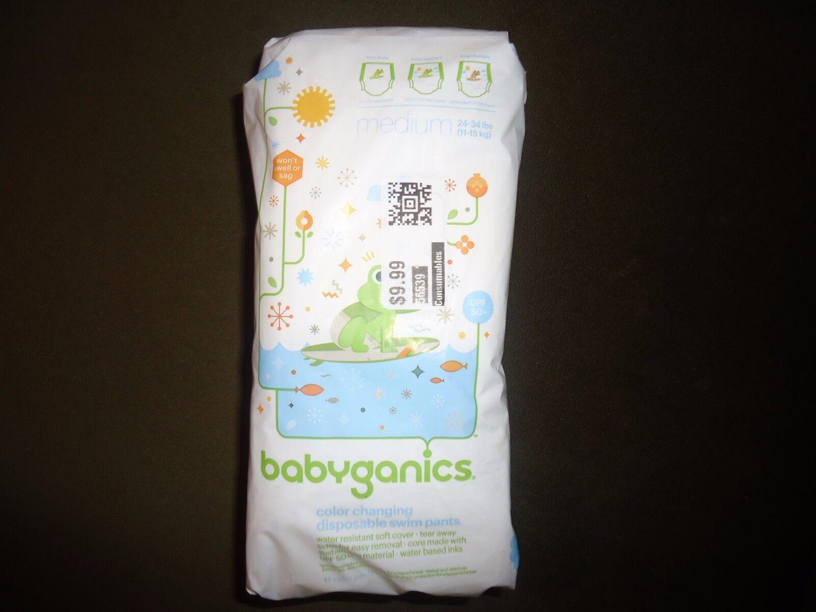 Babyganics Color Changing Disposable Swim Pants UPF50+ Sz Sm