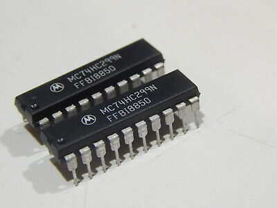 Mot Mc74hc299n 8 Bit Bidirect Shift Register 16 Pin Dip - Lot Of 2 - Fast Ship