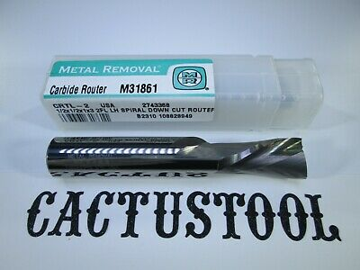 New Metal Removal 12 Solid Carbide Lh Spiral Down Cut Router Tool Bit Endmill