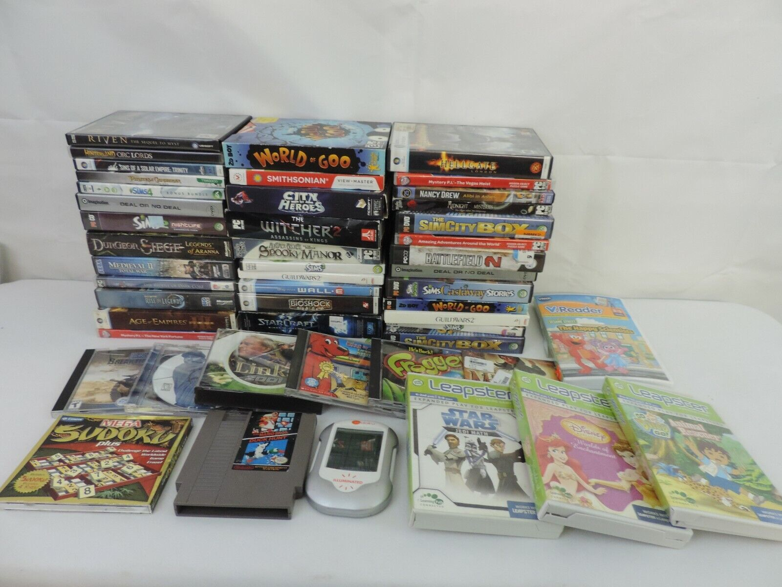 Computer Games - LOT CD Rom Games COMPUTER THRIFT STORE CLOSEOUT WHOLESALE LOT