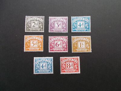 GB QEII 1968-9 Postage Dues Set of 8 Values D69-D76 inc Chalky PVA U/M Cat £22+