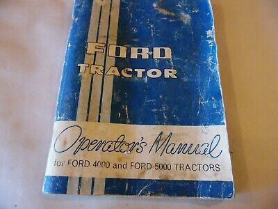 1965 Ford 5000 Diesel Farm Tractor Operators Manual