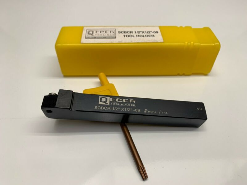"""Q TECH TOOLINGS SCBCR 1/2"""" X 1/2"""" - 09 TOOL HOLDER WITH T15 WRENCH. Holds CCMT"""