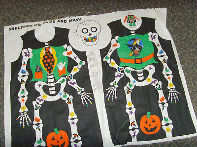 Skeleton mask and tunic Halloween costume fabric material for youth child kid (Skeleton Halloween Costume For Kids)