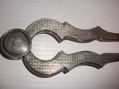 Rare Antique 19thc Austro Hungarian  Silver Sugar Tongs