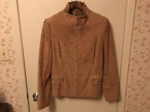 "Sibylle Lyn Brown Suede Lined Leather Jacket ""Katie"""