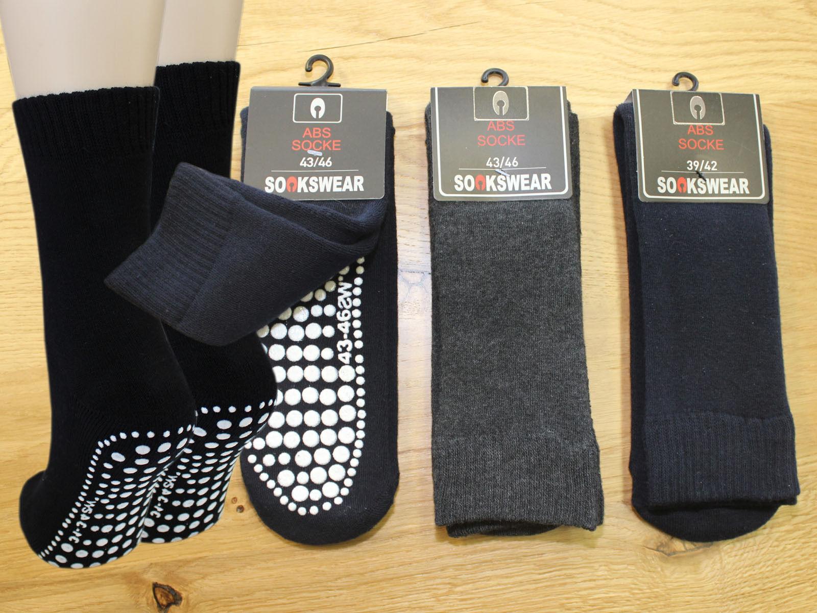 3 Paar Damen & Herren ABS Socken Anti Rutsch Socken Stoppersocken Noppensocken