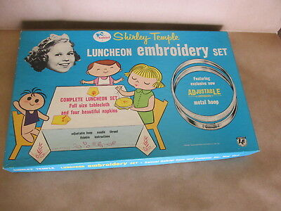 "Shirley Temple ""Luncheon Embroidery Set"" by Gabriel; New"