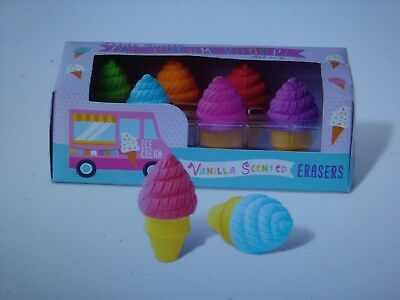 New Petite Sweets Ice Cream Shoppe Scented Erasers - Set of 6