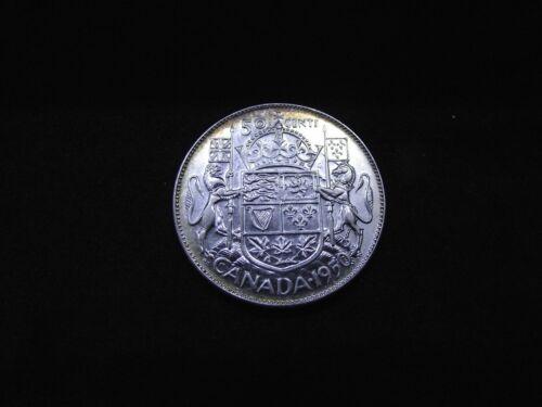 Canada 1950 Silver Half Dollar, Full Design in 0