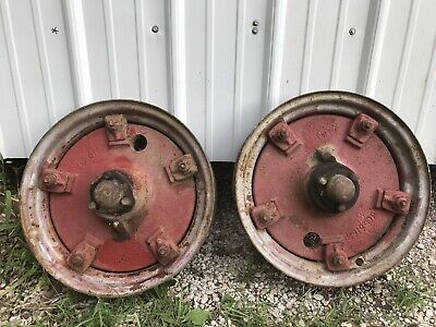 Ih Farmall Front Wheels For F12 Or F14 Tractor 1 Pr W. Rims Part Number 4919da