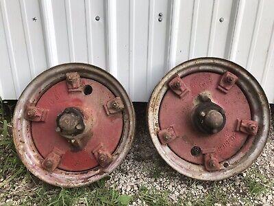 Ih Farmall Front Wheels For F12 Or F14 Tractor 1 Pr W. Rims Part Number 4919da