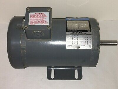Rockwell 34 Hp Electric Motor 1725 Rpm 3 Phase For Lathe