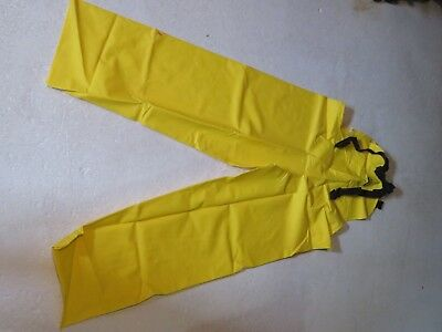 New Rain Pants Coveralls Oil Resistant Chemicals Hi-viz Yellow Size Xxxl 3xl