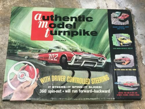 Authentic Model Turnpike AMT slot car track 1960