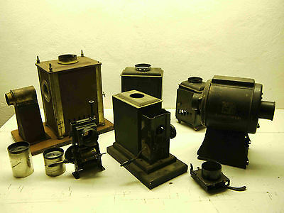 Laterna Magica Teile, Bastlerware, original alte Teile