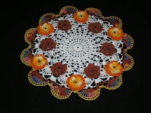 New Hand Crocheted Doily Flowers