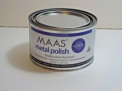 Maas Metal Cleaner (Maas 1.1 Lb Metal Polish Silver Copper Brass Cleaner Anti Tarnish Fr Lavender )