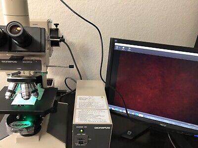 Olympus Bh2 Bhs Microscope Dic Fluorescence Phase Contrast 4 Splan Obj Apo60pl