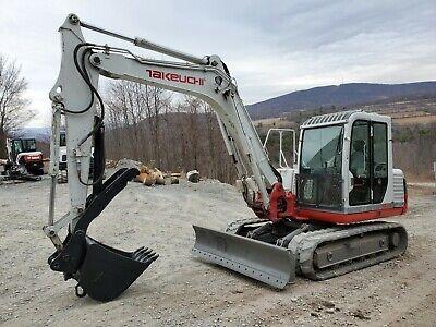 2007 Takeuchi Tb175 Excavator Cab Hydraulic Thumb Very Nice Ready To Work