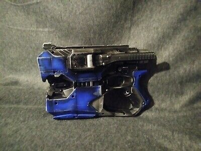 Nerf Vortex Diatron disk shooter CUSTOM  Painted Weathered Blue with black,NEATO