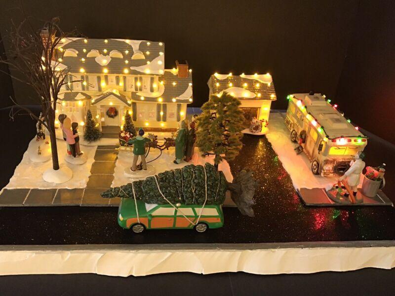 Village Display Base Platform For Dept 56 Christmas Vacation National Lampoon's