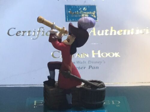 Disney WDCC Enchanted Places CAPTAIN HOOK Peter Pan W/ Box & COA