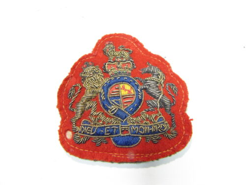 Vintage Dieu Et Mon Droit Royal Coat Of Arms United Kingdom UK Bullion Patch 3A