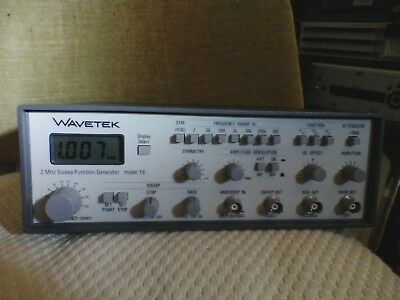 Wavetek Model 19 .002 Hz - 2 Mhz Sweep Function Generator Thurlby Thandar Uk