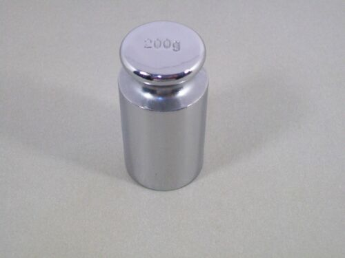 200G CHROME PLATED CALIBRATION GRAM SCALE WEIGHT IN EXCELLENT CONDITION
