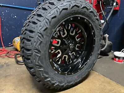 """20x10 Fuel D611 Stroke 35"""" MT Wheel and Tire Package 6x135 Ford F150 Expedition"""