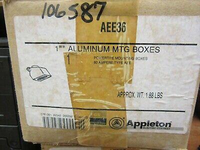 Appleton Aee36 Aluminum Mtg Boxes
