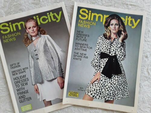 2 Vintage Simplicity Fashion News Pamphlets 1969