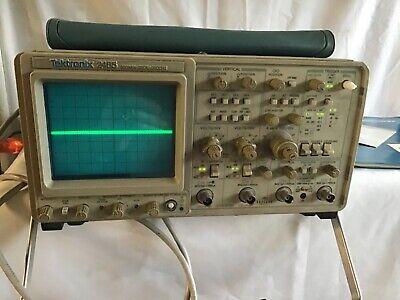 Tektronix 2465 300 Mhz Portable Analog Oscilloscope Untested P6139a 500 Mhz