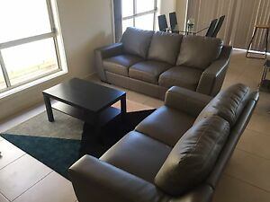 Nick Scali Leather Lounges (2 + 3 seater) Grange Charles Sturt Area Preview